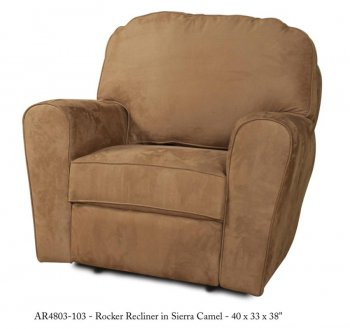 Reviews camel fabric stylish modern handle rocker recliner - Stylish rocker recliner ...