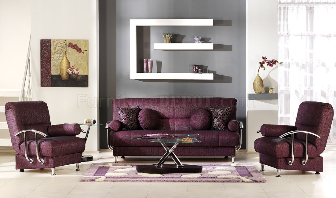 Burgundy living room car interior design