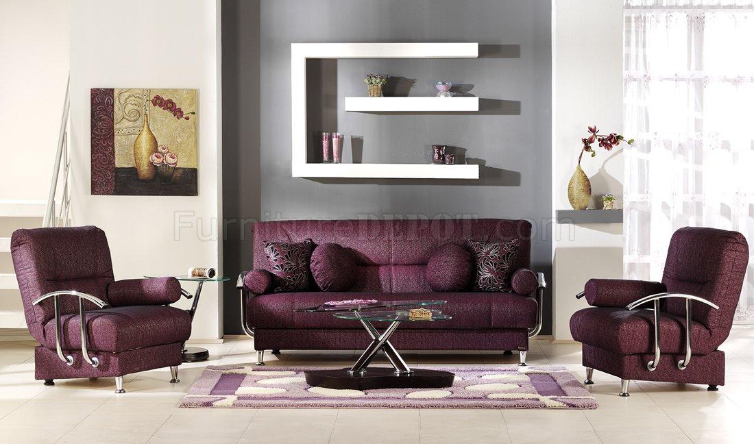 Ellis Brown and Burgundy Sofa - 1StopBedrooms.