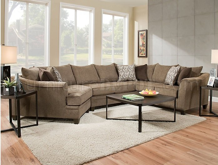 6485 Sectional Sofa In Brown Albany Truffle By Simmons W