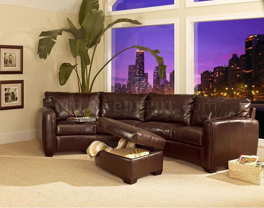 leather sofa curved leather sectional