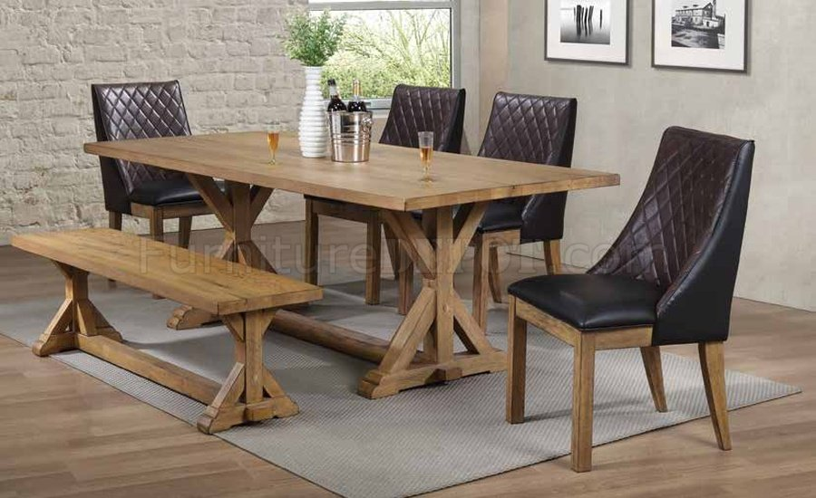 Douglas 107221 Dining Table in White Oak by Coaster wOptions