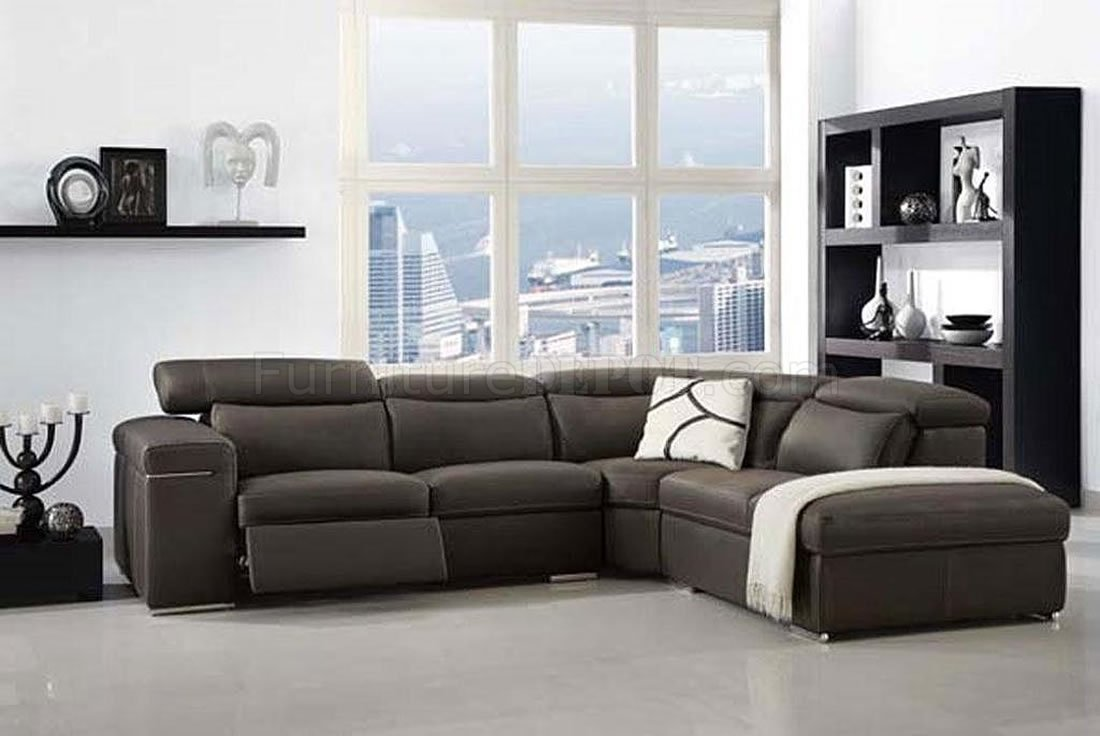 Groovy Dark Grey Full Italian Leather Modern Sectional Sofa Dailytribune Chair Design For Home Dailytribuneorg