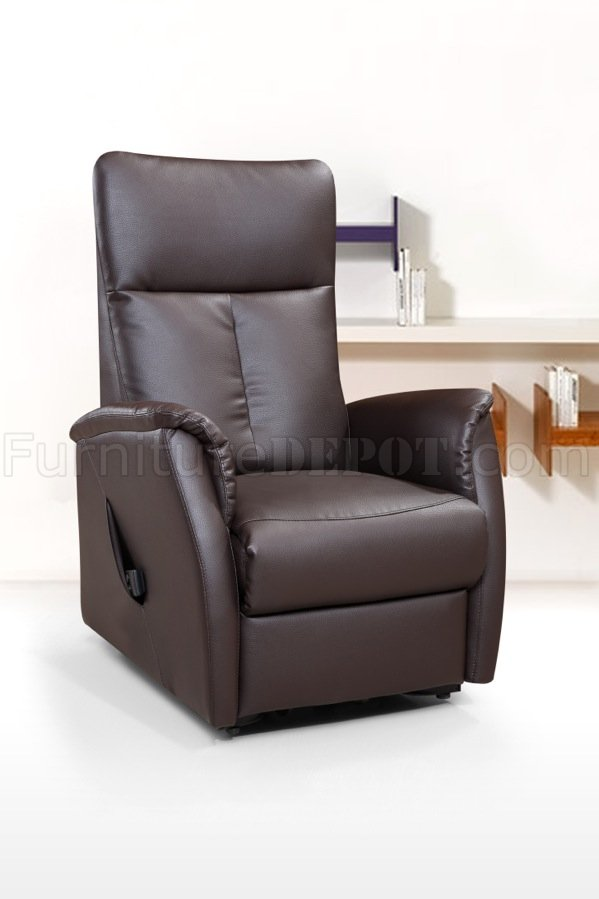 113r power lift chair chocolate bonded leather by american eagle aerc