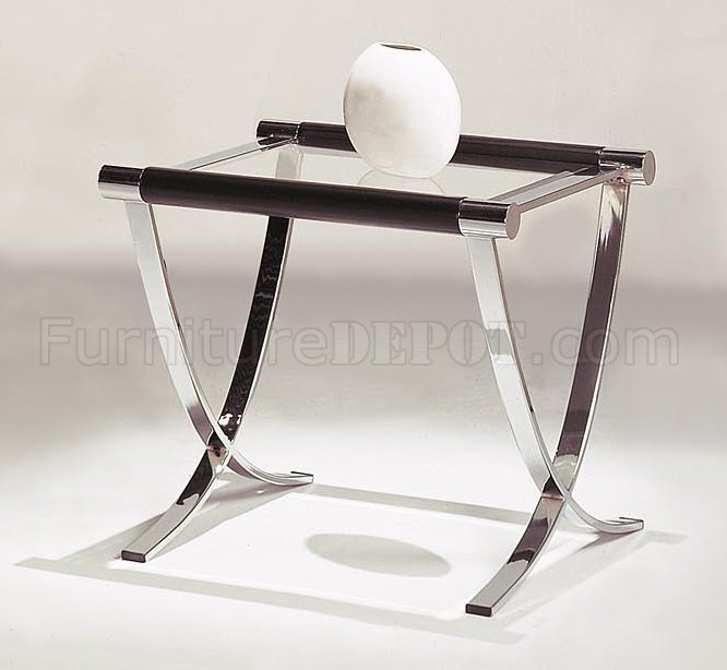 Set Of Glass Top Contemporary Coffee U0026 End Tables W/Chrome Legs