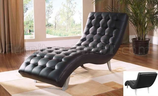 Black Beige Brown Red Or White Leatherette Chaise Lounge