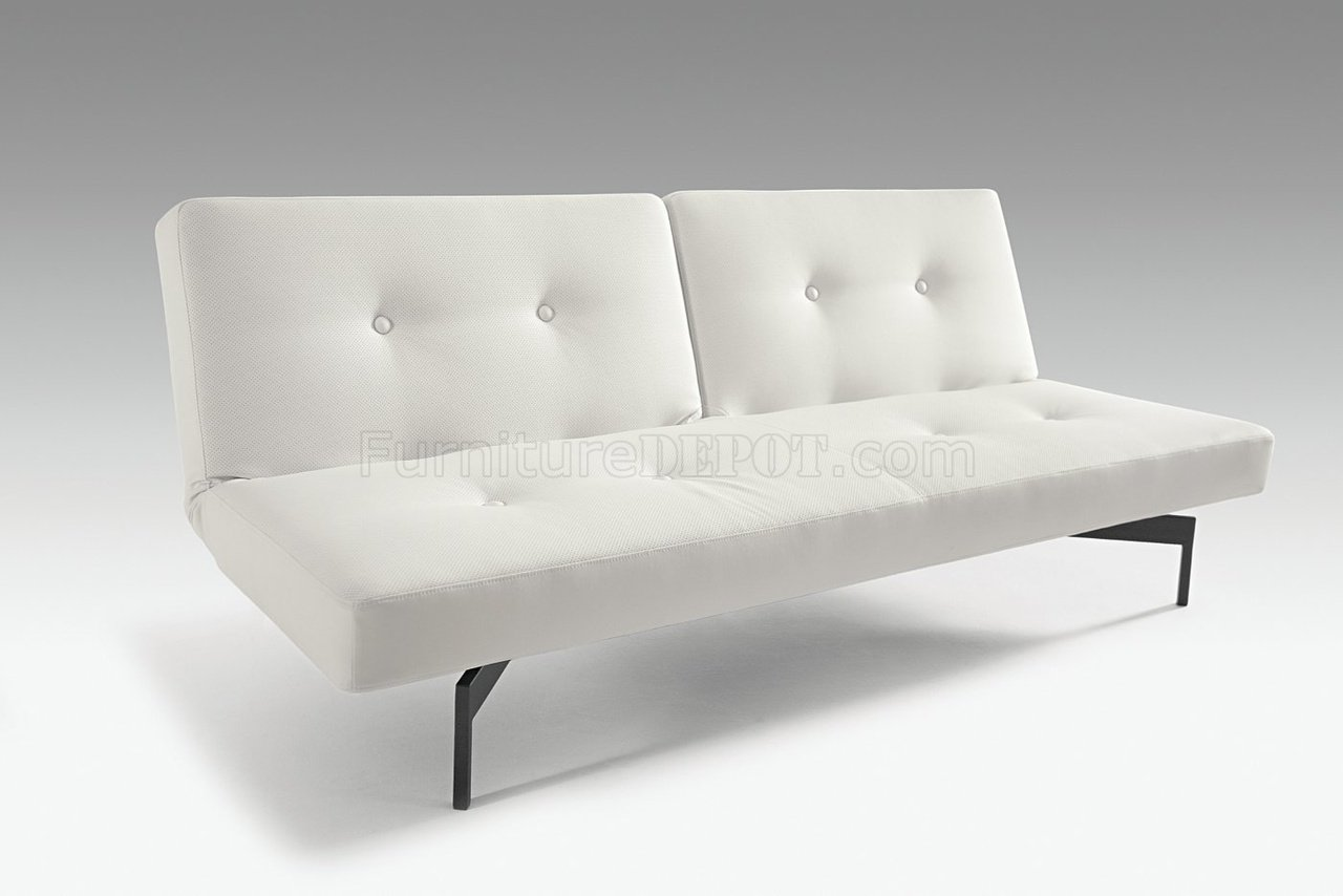 Fabulous White Or Grey Leatherette Convertible Sofa Bed By Innovation Pdpeps Interior Chair Design Pdpepsorg