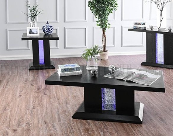 Tobias Coffee Table Amp 2 End Tables Set Cm4252 In Black W