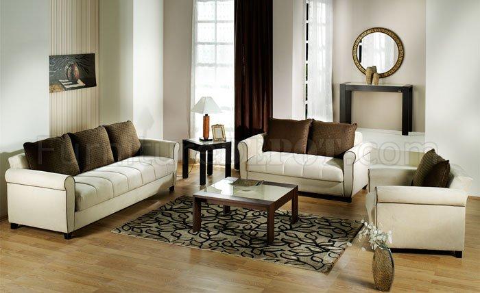 beige fabric elegant living room w sleeper couch and storage mnsb bali