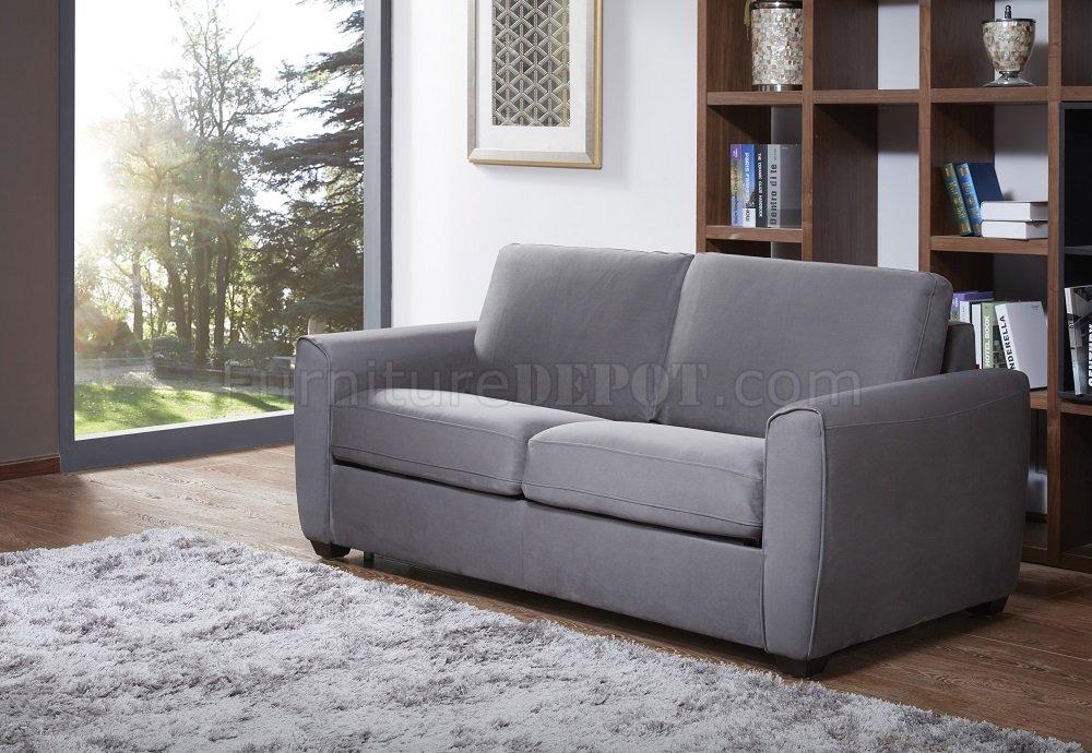 Mono Premium Sofa Bed In Dark Grey Microfiber Fabric By J Amp M