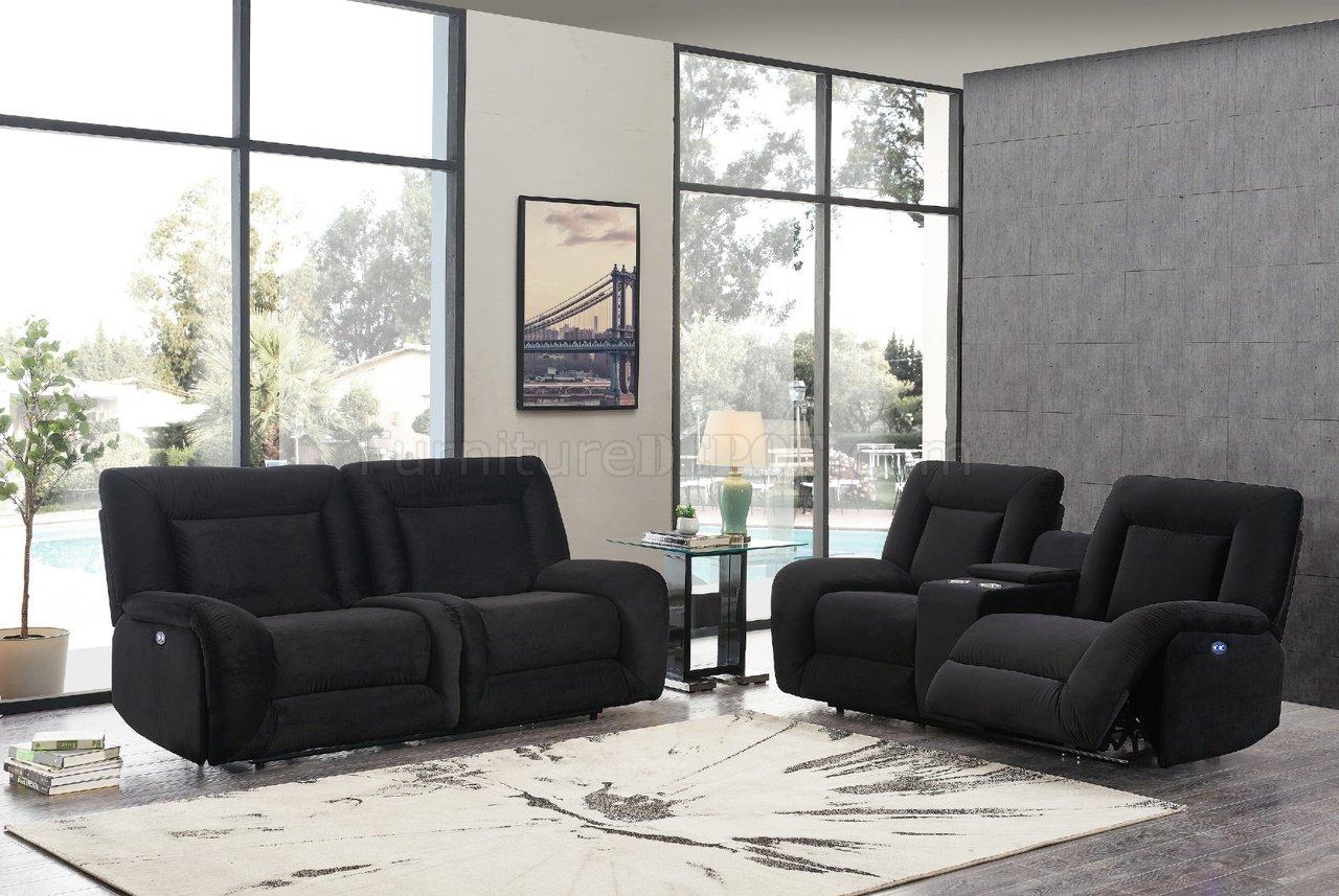 Fantastic U8900 Power Motion Sofa In Black Velvet By Global W Options Frankydiablos Diy Chair Ideas Frankydiabloscom