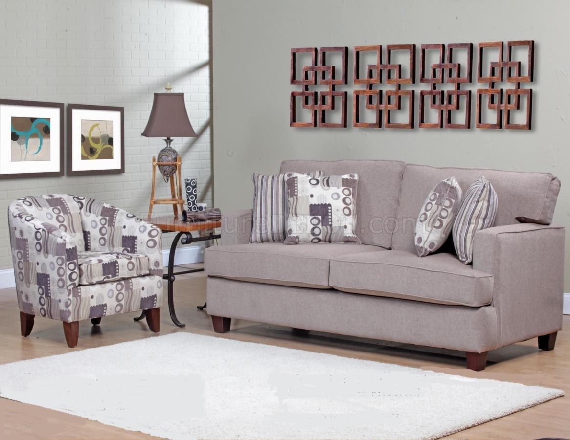 Beige Fabric Modern Sofa Amp Accent Chair Set W Options