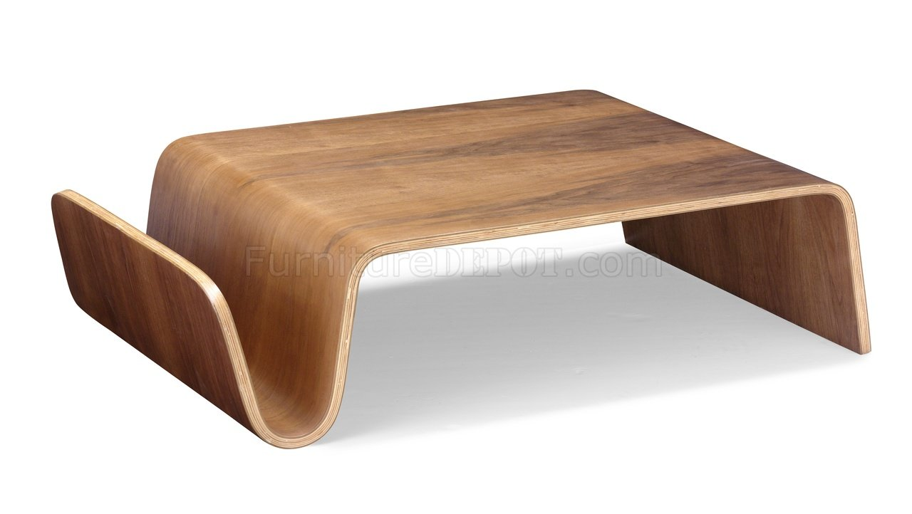 Walnut Bentwood Modern Artistic Coffee Table ZMCT Swag