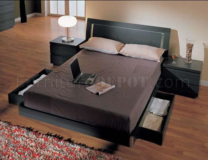 Bedroom Sets With Storage Beds finish modern 5pc bedroom set w/queen size storage bed