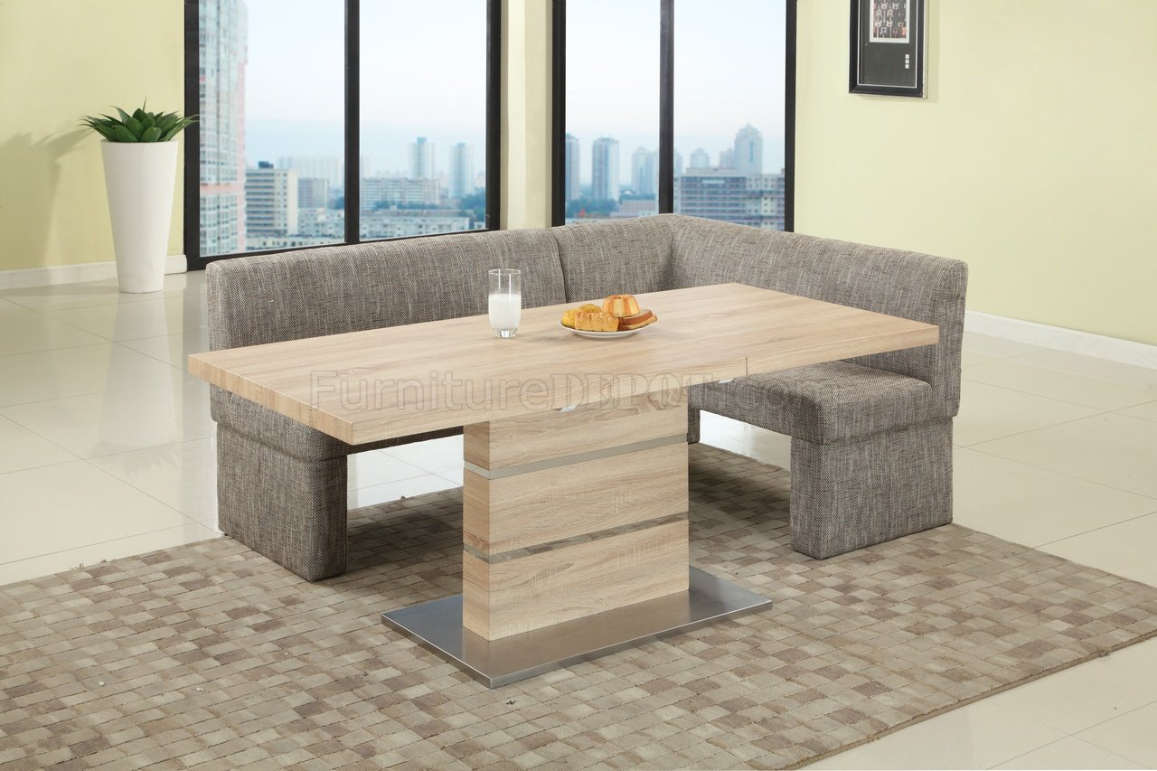 Light Oak Living Room Furniture Labrenda Dining Table In Light Oak By Chintaly W Optional Nook