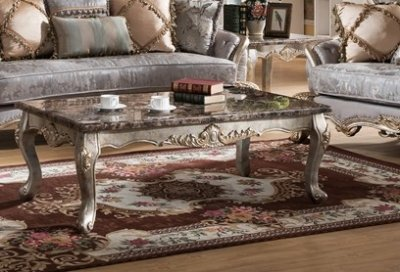 Oprah Traditional Coffee Table W Marble Table Top Amp Options