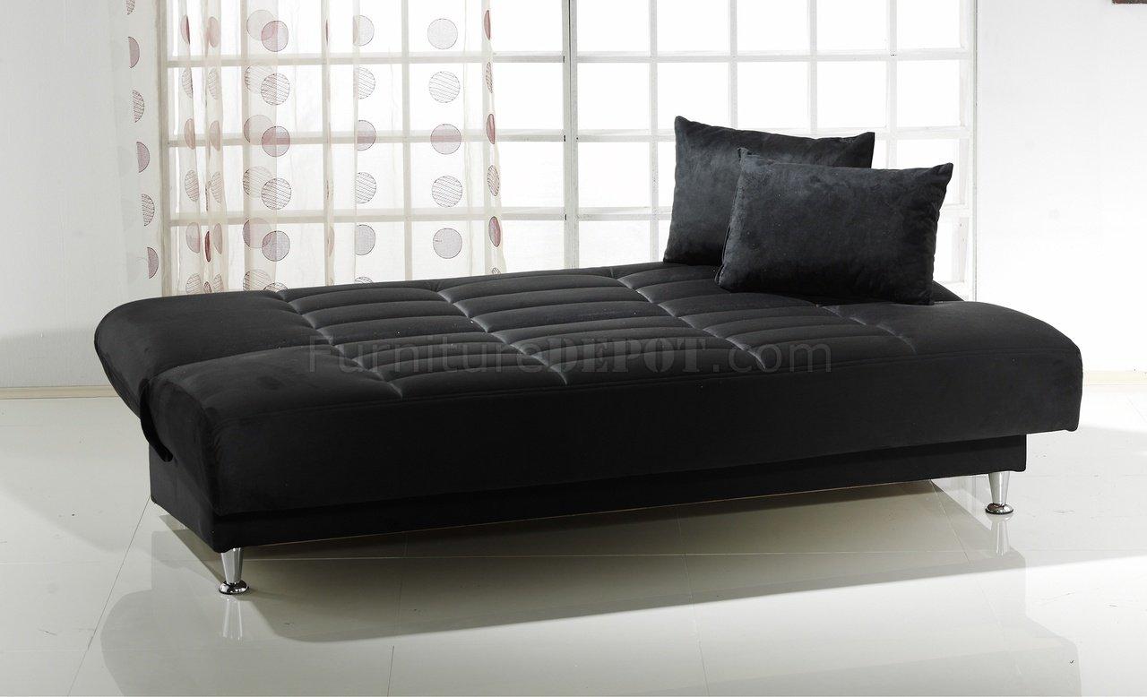 Groovy Vegas Rainbow Storage Sofa Bed In Black Microfiber By Istikbal Dailytribune Chair Design For Home Dailytribuneorg