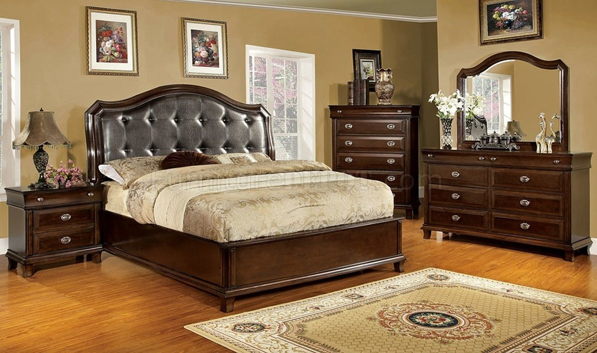 Cm7065 arden bedroom in espresso w optional casegoods Bedroom furniture at home depot