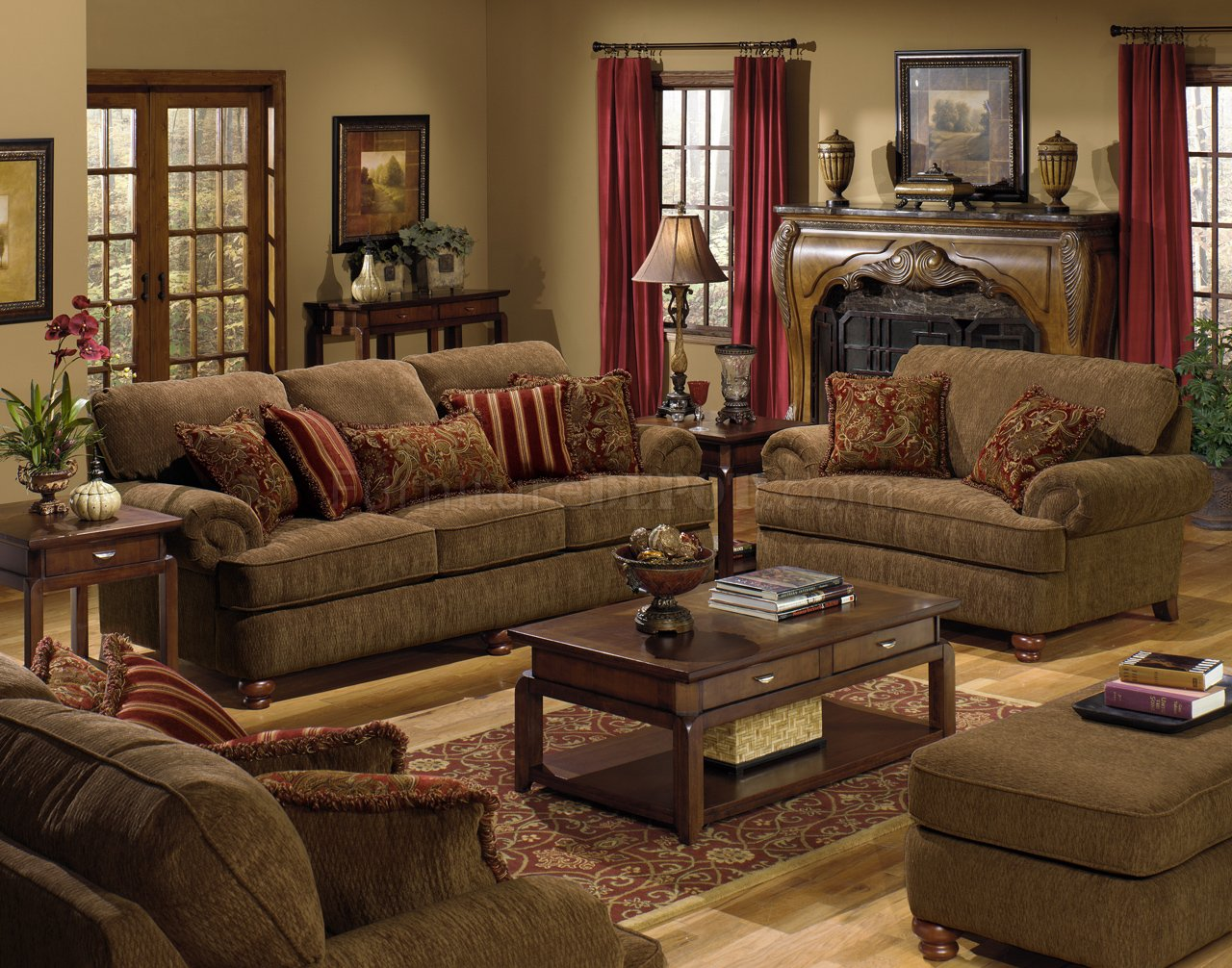 Amber Fabric Modern 4347 Belmont Sofa & Loveseat Sofa w/Options JFS ...
