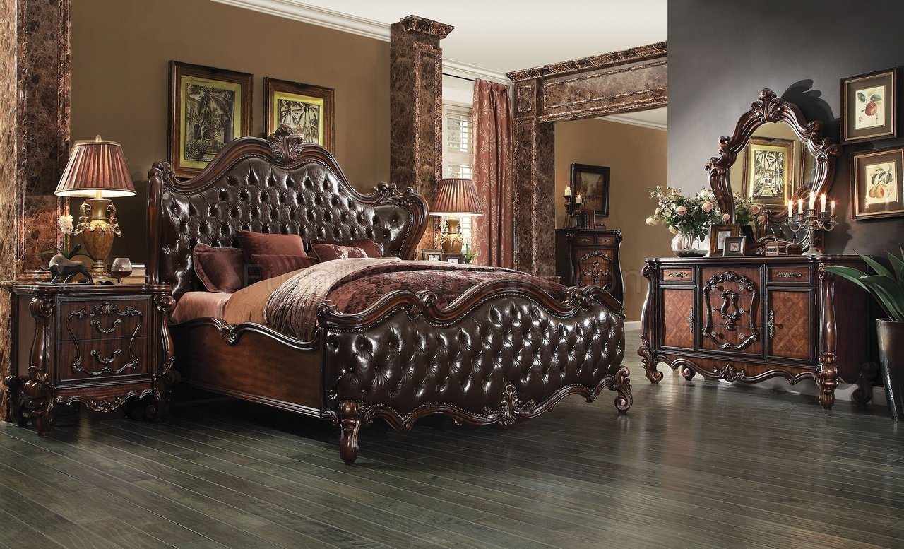 Contemporary Bedroom Set London Black By Acme Furniture: Versailles Bedroom Brown By ACME
