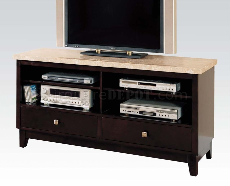 17093 britney tv stand by acme w white marble top