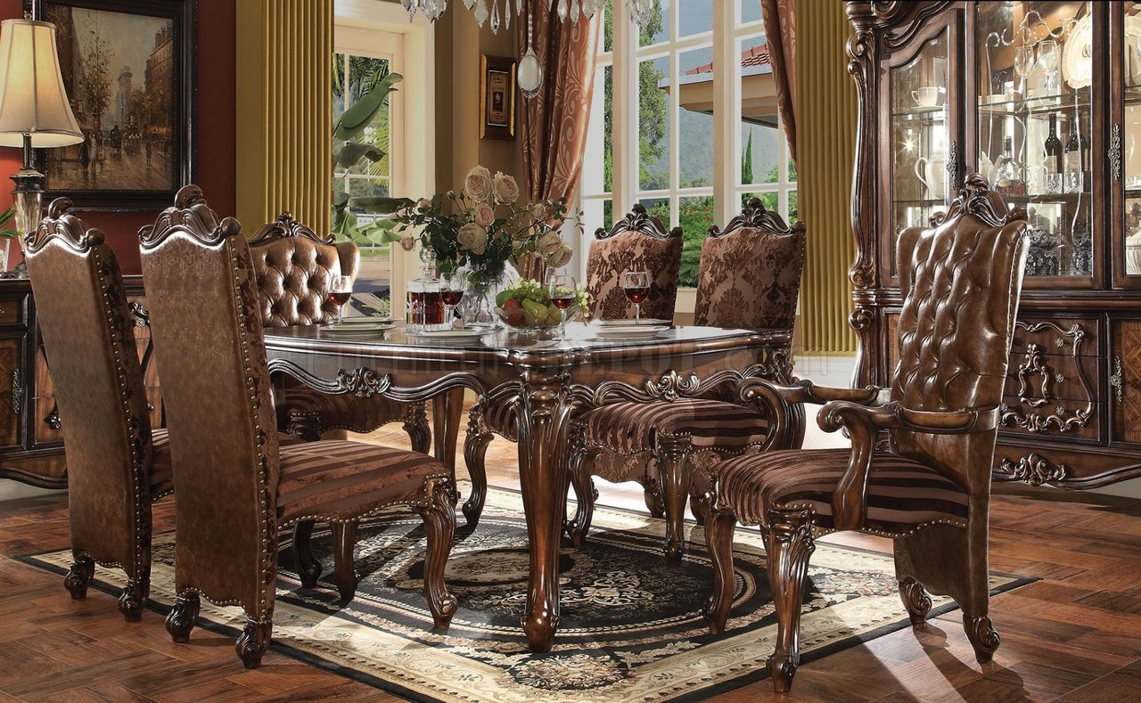 Versailles Dining Table Cherry Oak By Acme 61110