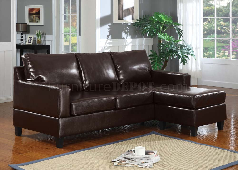 Super 15915 Vogue Sectional Sofa In Espresso Bonded Leather By Acme Machost Co Dining Chair Design Ideas Machostcouk