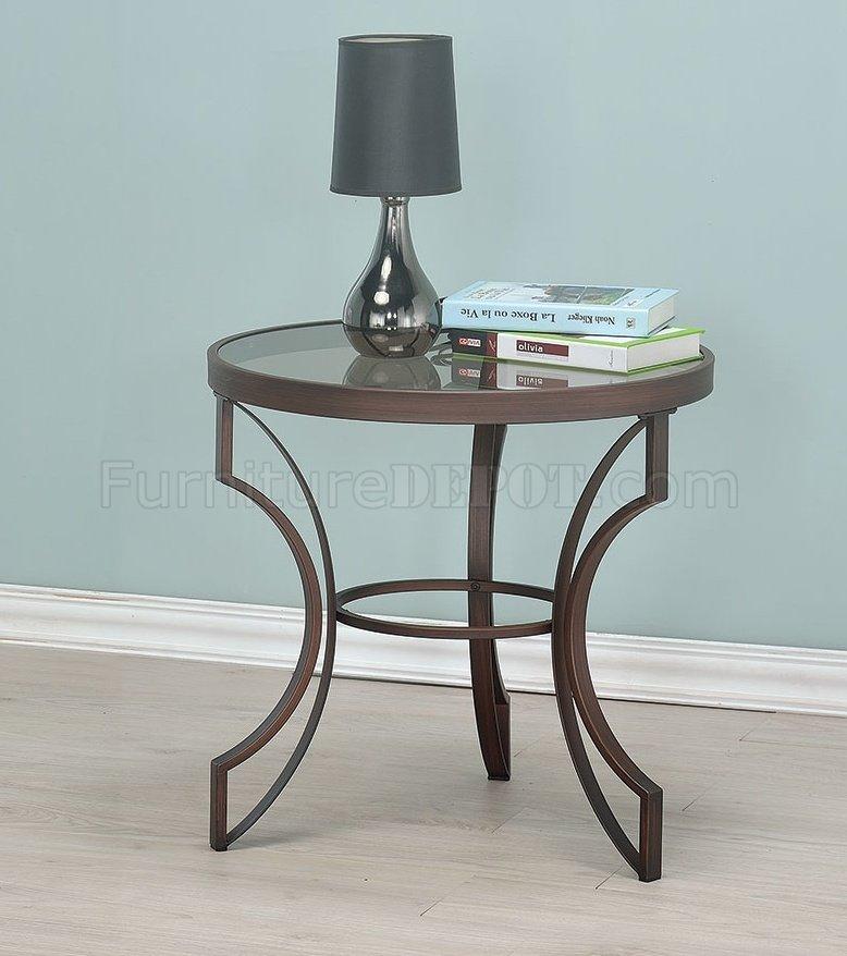 3pc Black Temper Glass Tops Metal Legs Coffee Table W: 704458 Coffee Table 3Pc Set By Coaster W/Glass Top