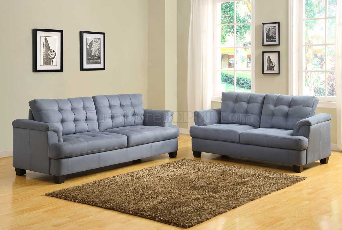 st charles 9736 sofa homelegance blue grey fabric w