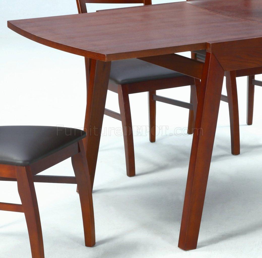 dark oak finish modern dining table w optional chairs cyds cheri dt
