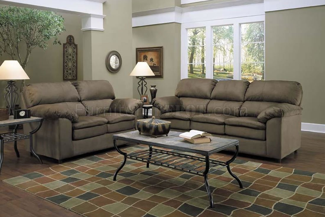 fern micro suede sofa u0026 loveseat contemporary living room set