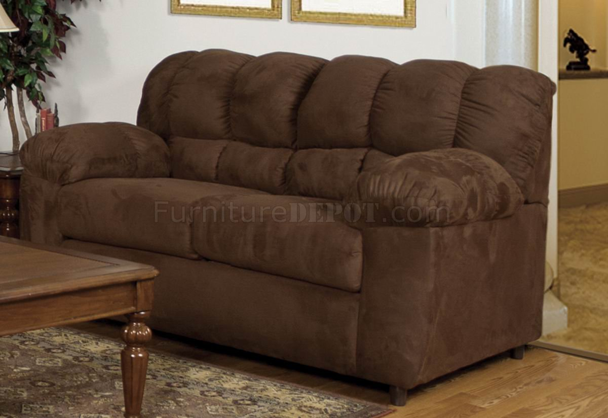 Sierra Chocolate Fabric Modern Sofa Amp Loveseat W Options