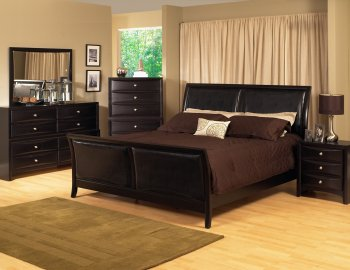 Reviews Espresso Finish Transitional Bedroom Set W Bicast Inserts