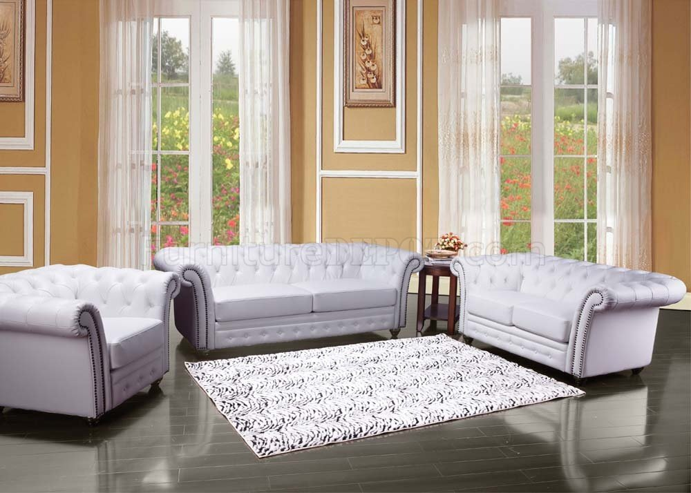 50165 Camden Sofa In White Bonded Leather By Acme W Options