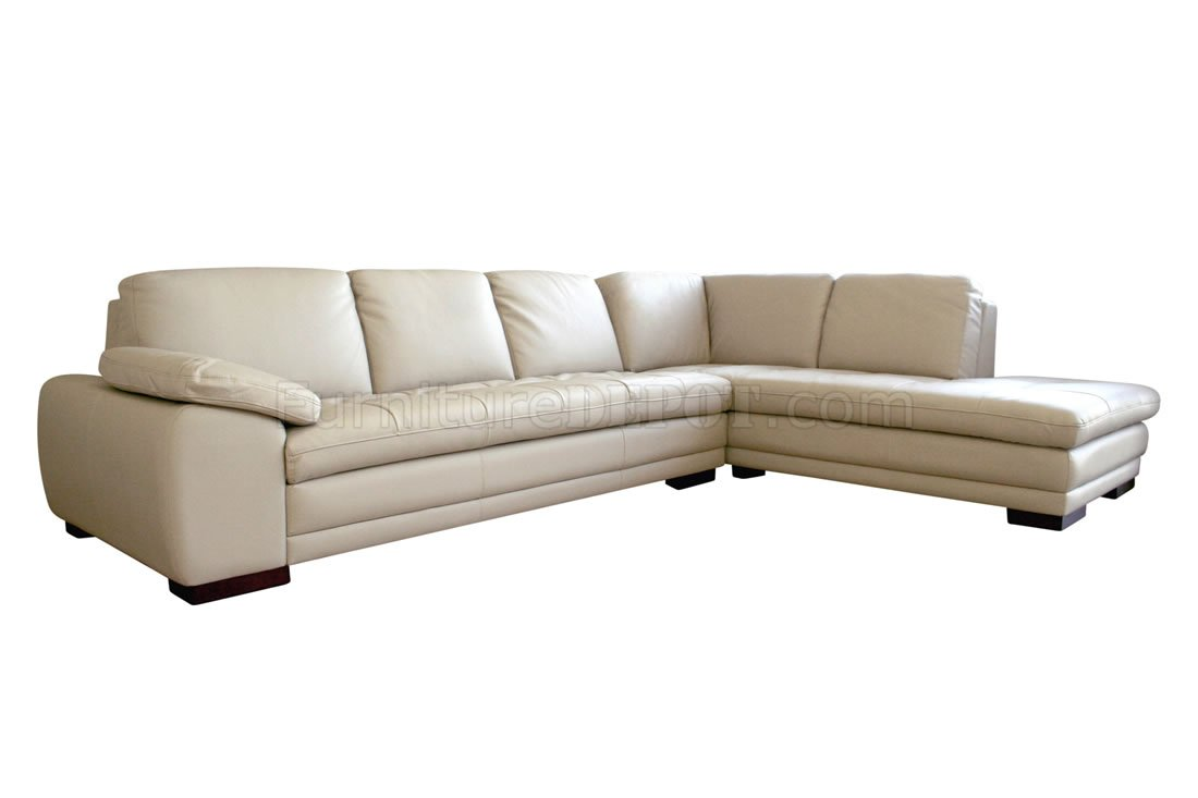 Modern sectional sofa with tufted leather upholstery for Modern sectional sofas