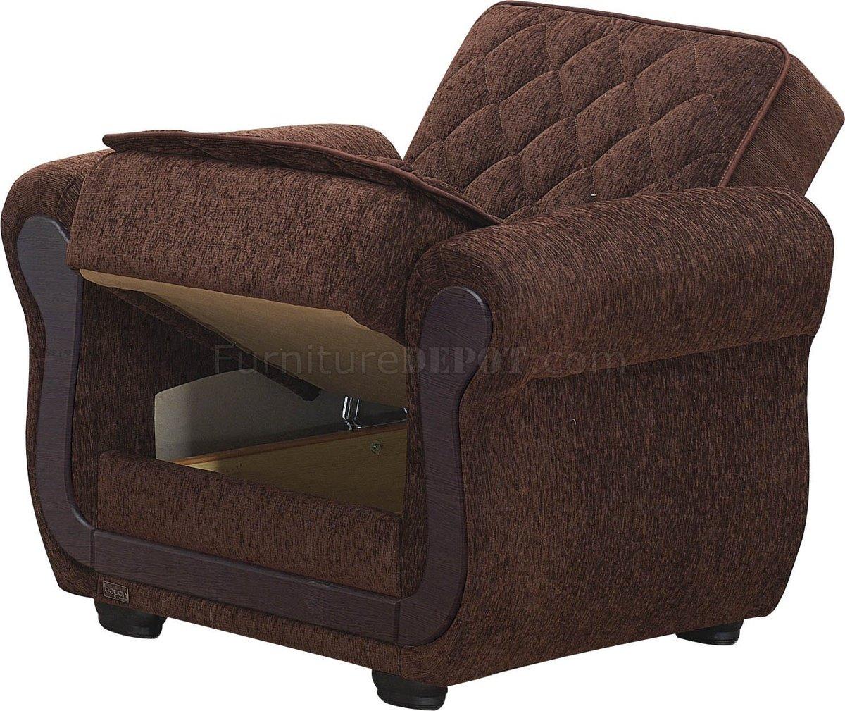 Sunrise Sofa Bed Convertible Dark Brown Fabric W Optional