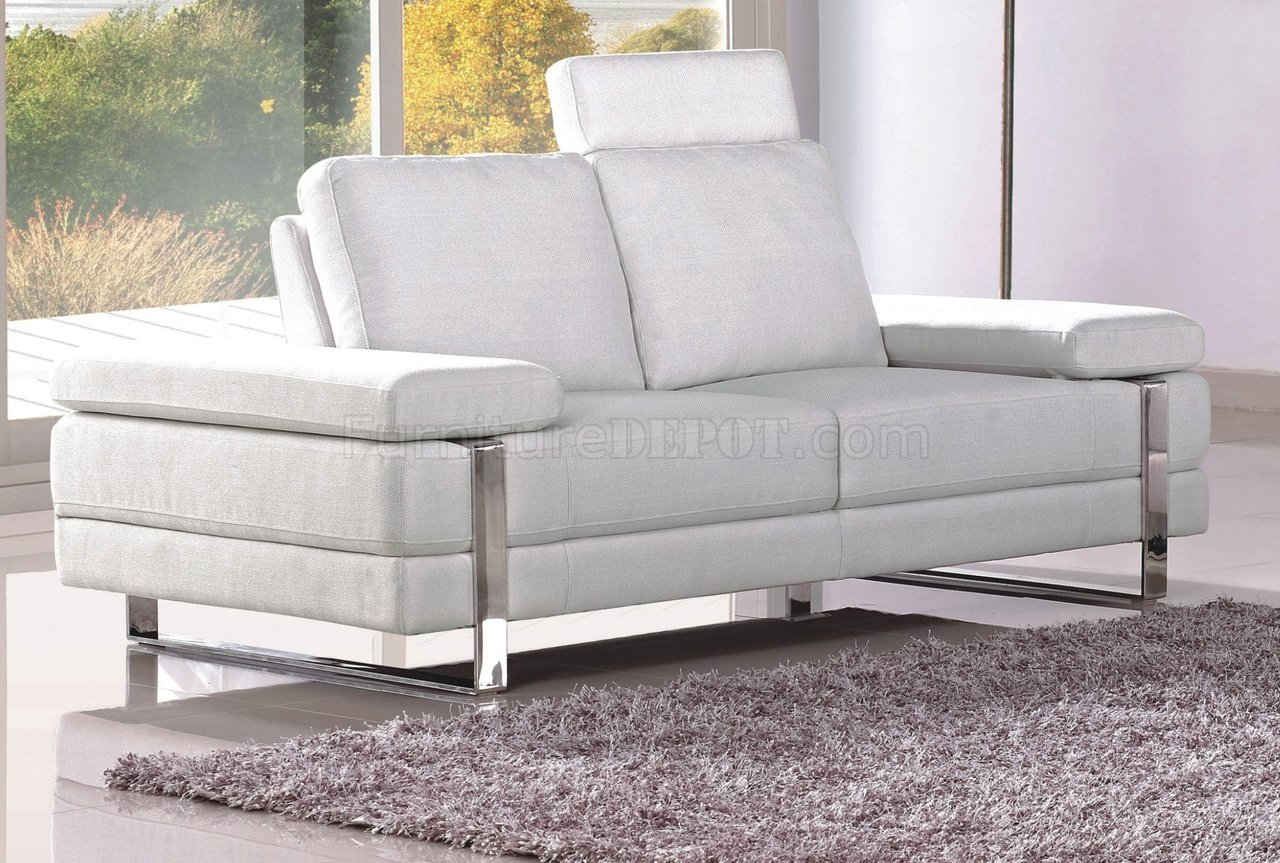 White Fabric Bedroom Chair: White Fabric Modern 7095 Sofa W/Optional Loveseat & Chair