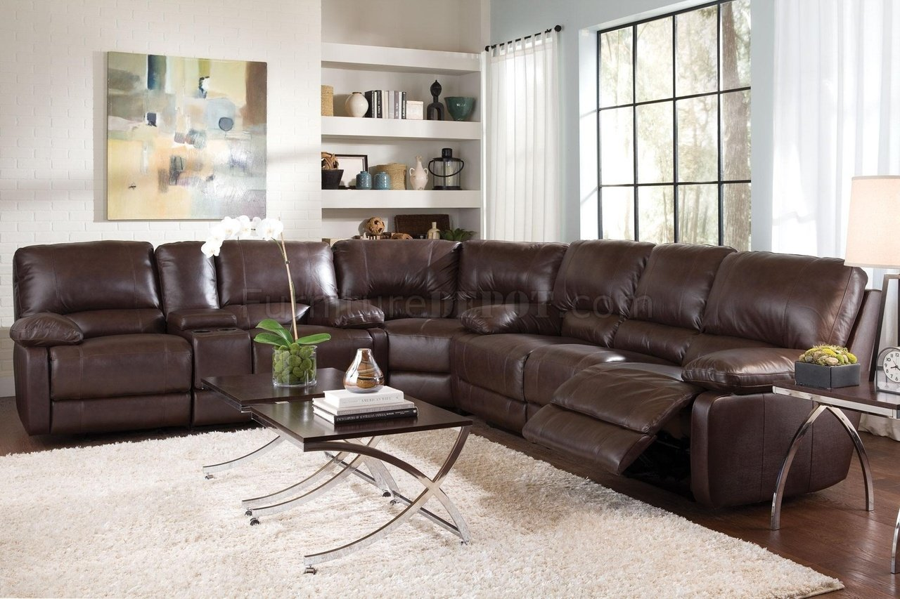 Geri Sectional Sofa in Top Grain Leather Match by Coaster