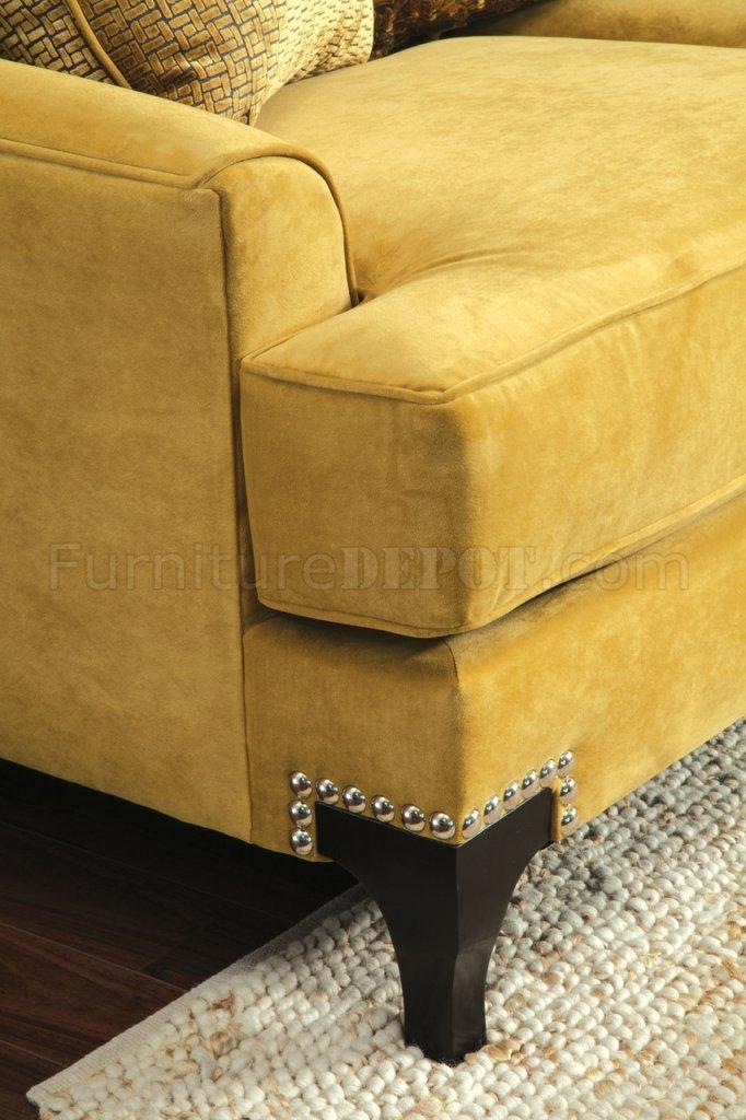 Viscontti Sm2201 Sofa In Gold Tone Fabric W Options