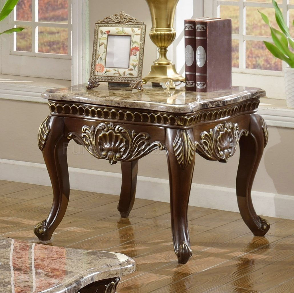 Cherry Marble Top Coffee Tables: Catania 210 Coffee Table In Dark Cherry W/Marble Top & Options