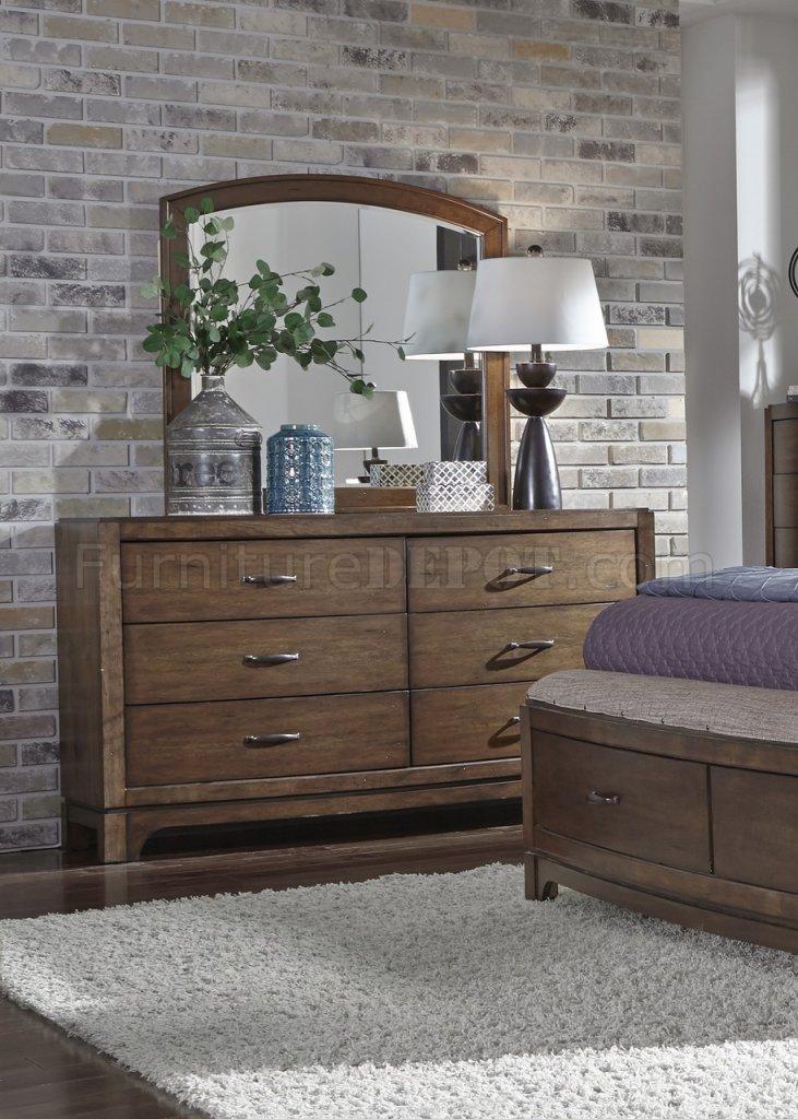 III Bedroom 5Pc Set 705BR-QPBS in Pebble Brown by Liberty