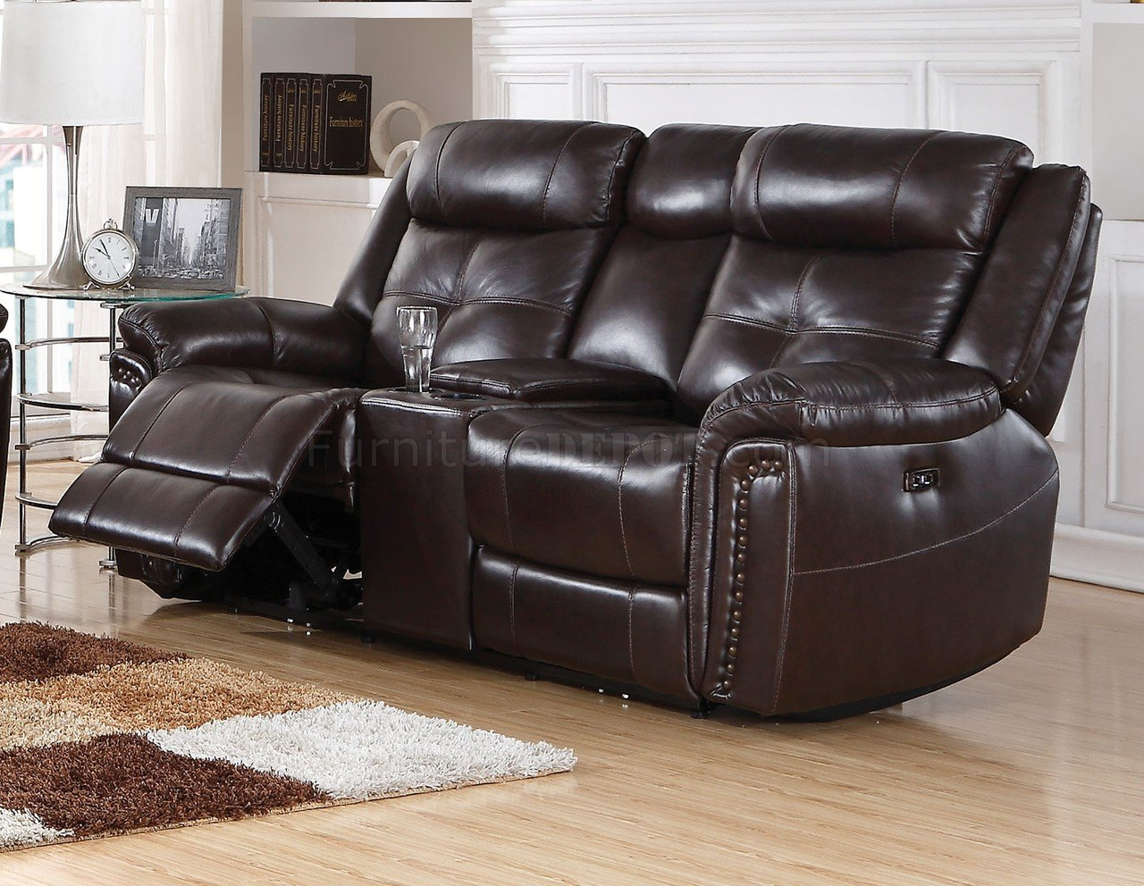 Anita Power Motion Sofa 54160 In Espresso Leather Match By