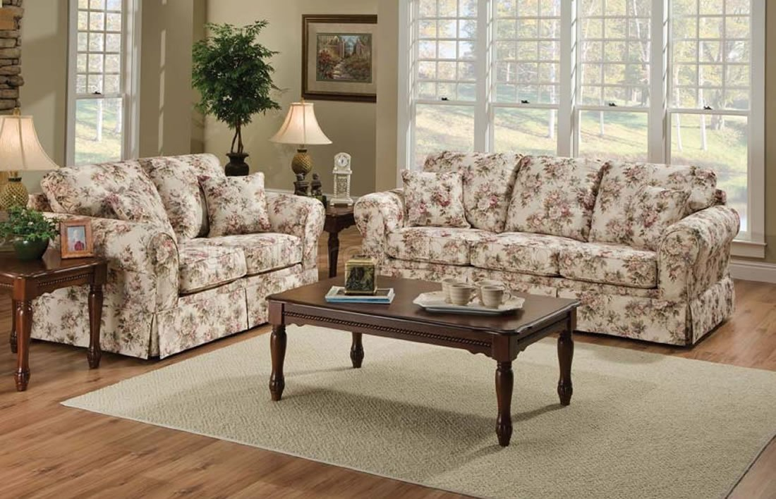 Amazing Entice Rose Fabric Upholstery Sofa And Loveseat Set Home Interior And Landscaping Ologienasavecom