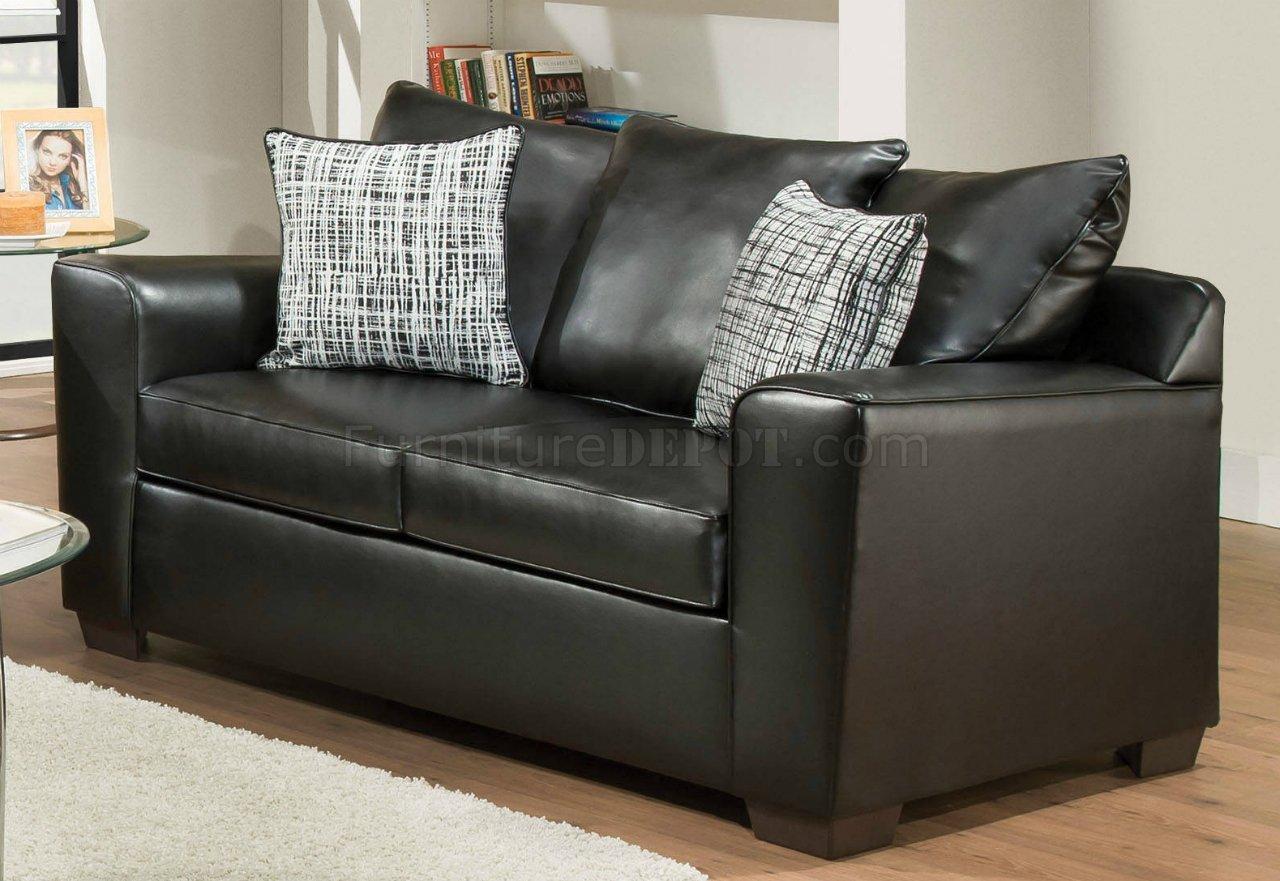 Yahtzee Sofa 53820 In Onyx Fabric By Acme W Options