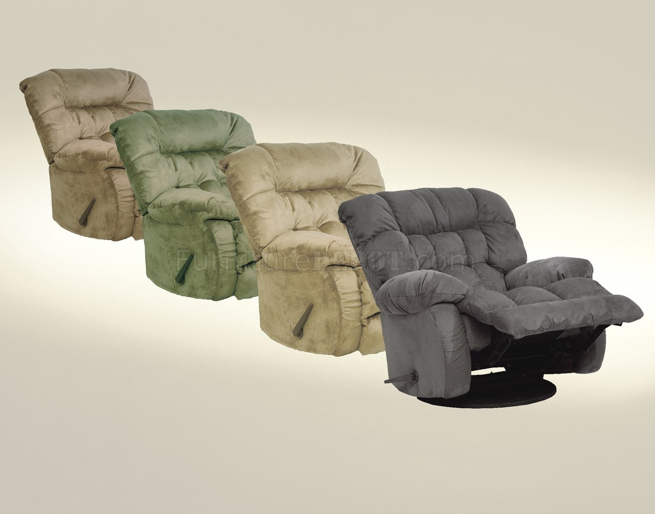 Catnapper Choice Of Color Fabric Modern Teddy Bear Recliner