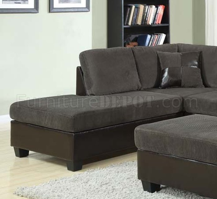 Connell Sectional Sofa in Olive Gray & Espresso by Acme