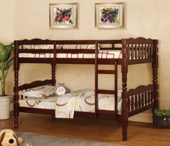 Reviews cm bk606ch catalina twin twin bunk bed in cherry for Catalina bunk bed reviews