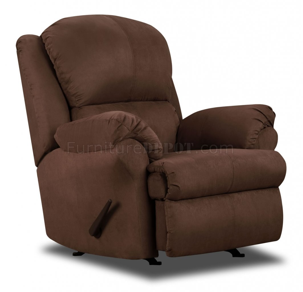 Chocolate Microfiber Modern Double Reclining Sofa Loveseat Set