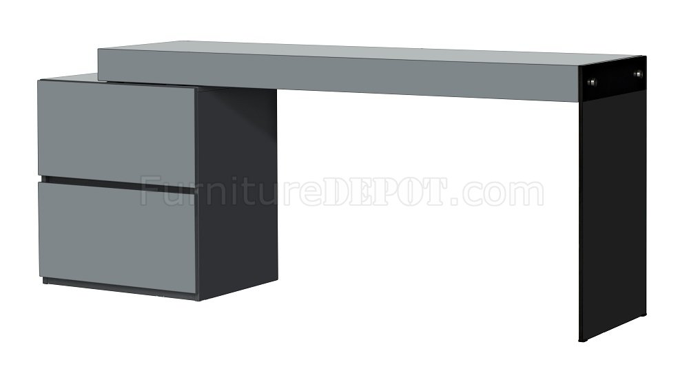 Coach Modern Office Desk In Grey High Gloss By J M