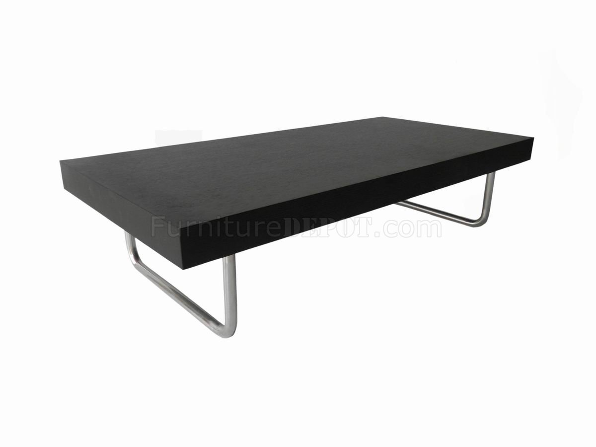 Metal leg coffee table wenge finish modern coffee table w metal legs walnut lucite and steel Aluminum coffee table legs